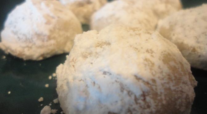 Pecan Nougat Cookies (Shortbread Snowballs)