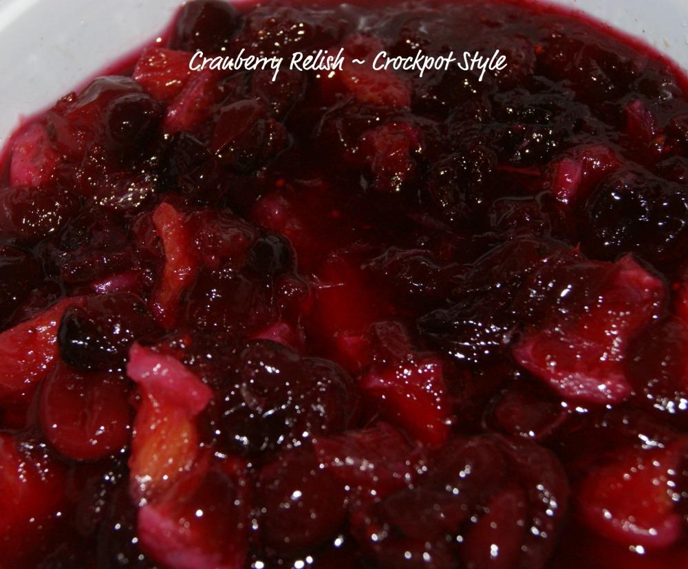 Cranberry Relish - Crockpot Style