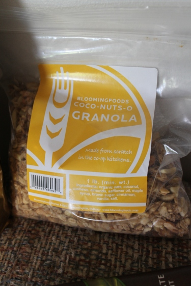 This granola is so delicious!  It has cashews in it which is a welcome surprise.