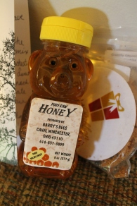 Hubby had wanted honey when we were at the Second Street Market. The honey was from Canal Winchester so it was cool we got it from Hannah.