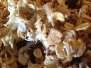 white chocolate granola