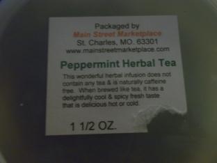 Peppermint Tea (Delicious!)