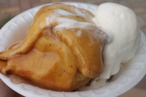 The apple dumpling and ice cream Hubby and I shared