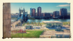 View of the Ohio River from the Freedom Center