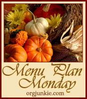 Menu Planning Monday – Week of November 23