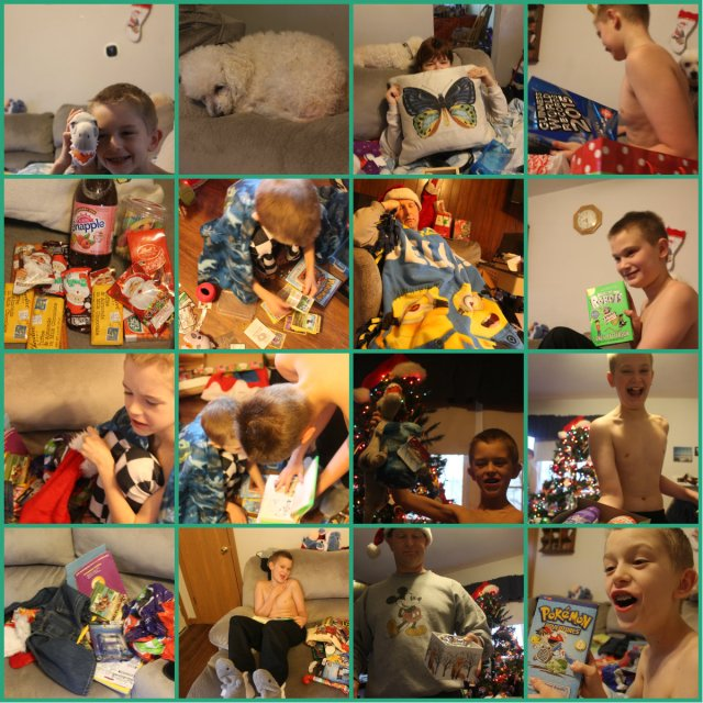 Christmas day collage