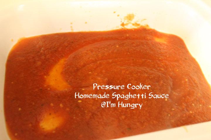Pressure Cooker Homemade SpaghettiSauce