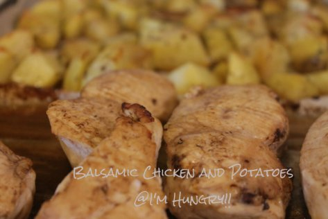 balsamic chicken and potatoes