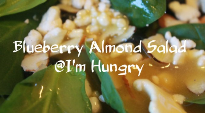 Blueberry Almond Spinach Salad