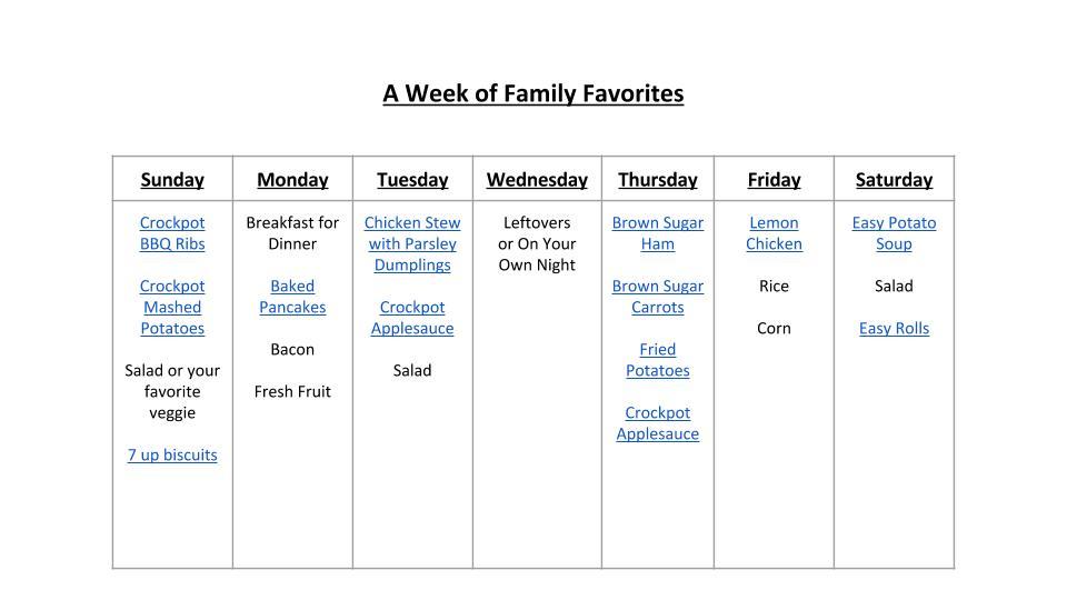 A Week of FamilyFavorites