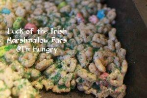 Luck of the Irish Marshmallow Bars