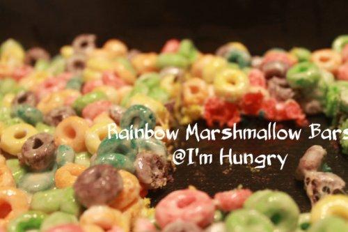 Rainbow Marshmallow Bars