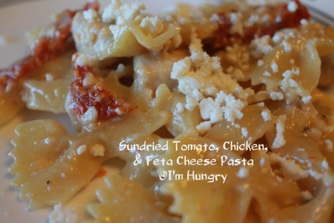 Sundried Tomato, Chicken, and Feta Pasta