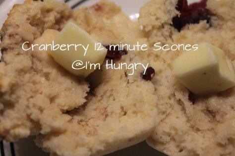 Cranberry 12 minute scones