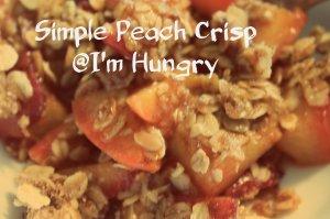 Simple Peach Crisp