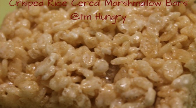 Crisped Rice Cereal Marshmallow Bars