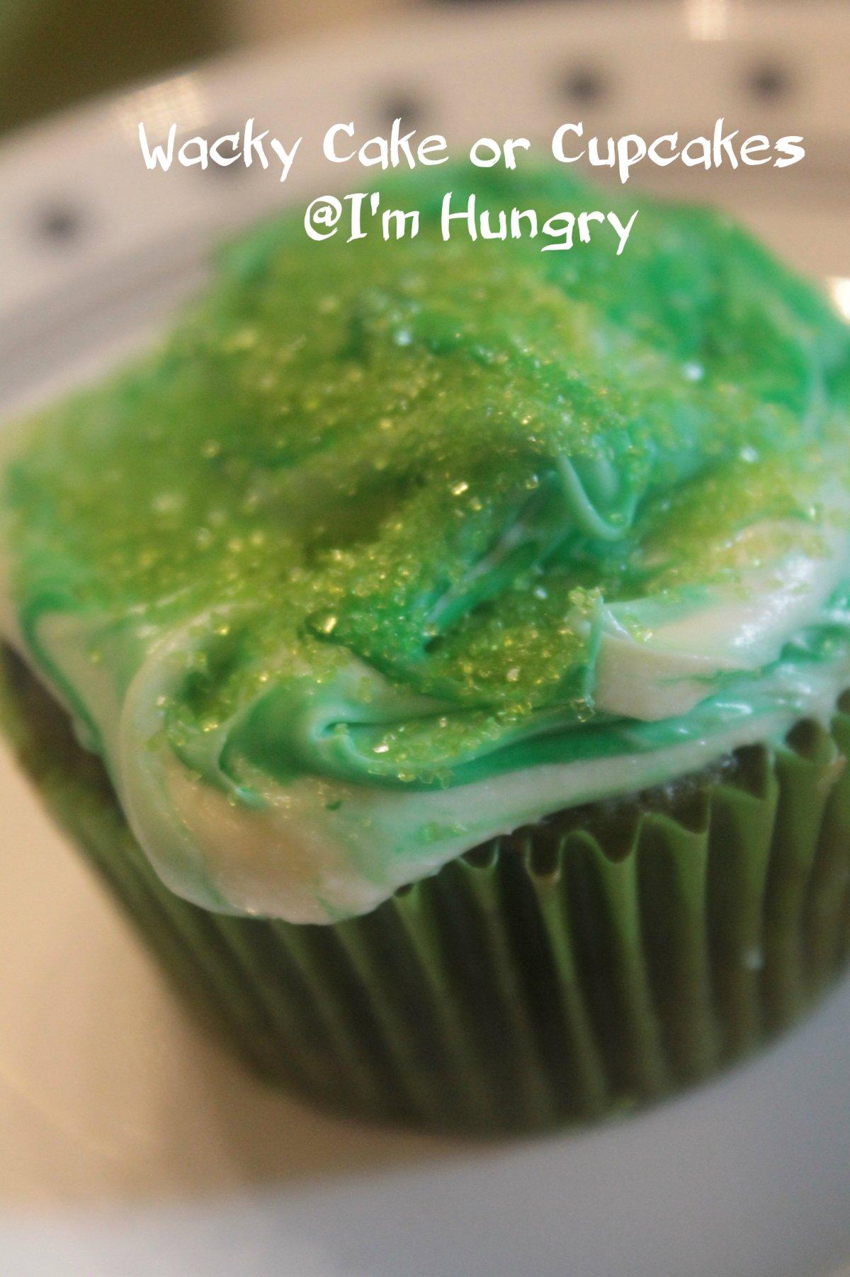 Vanilla Wacky Cakes or Cupcakes(Vegan)