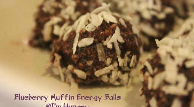 Blueberry Muffin Energy Balls (Vegan, Gluten Free)