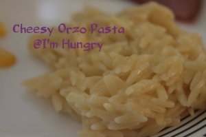 cheesy orzo pasta