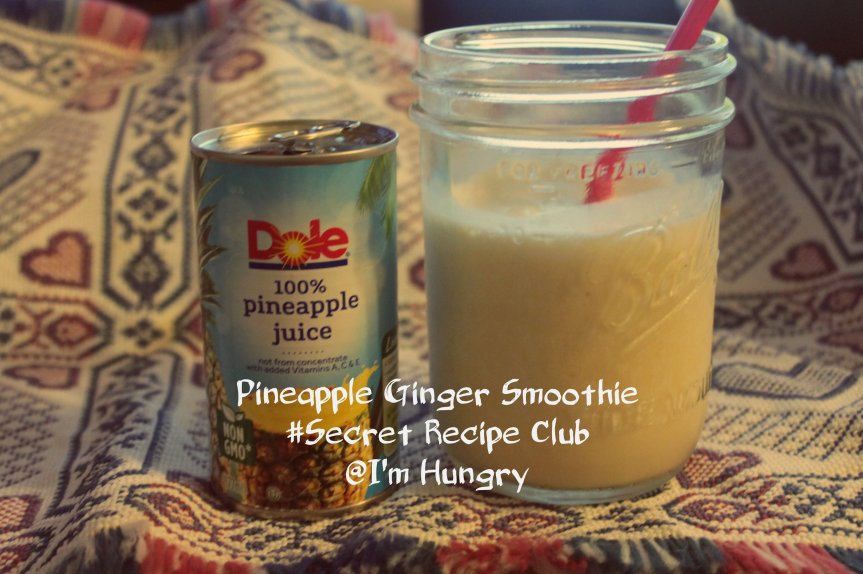 Ginger Pineapple Smoothie – Back to School (Secret RecipeClub)
