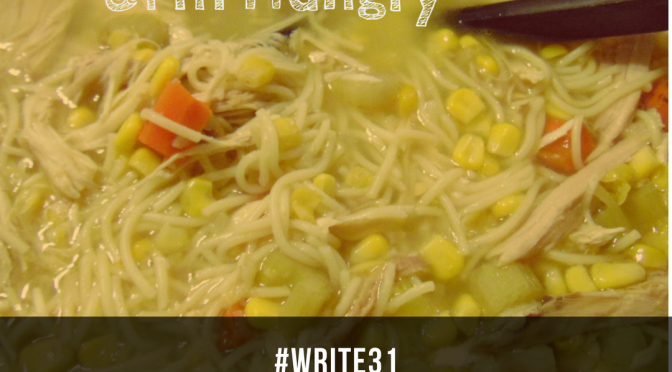 Chicken Corn Soup (Day 8)