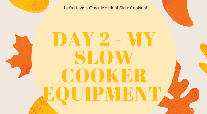 My Slow Cooker Equipment – Day 2