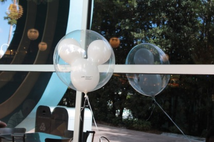 Mickey balloon reflection