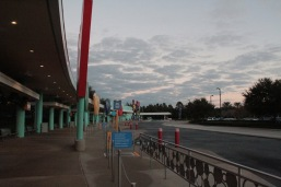 Bus stop area