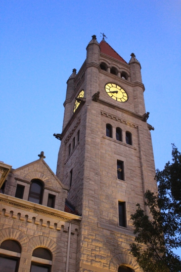 The County Courthouse at dusk
