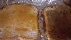 Mixed Butter and Apple Cider Jam Sammie