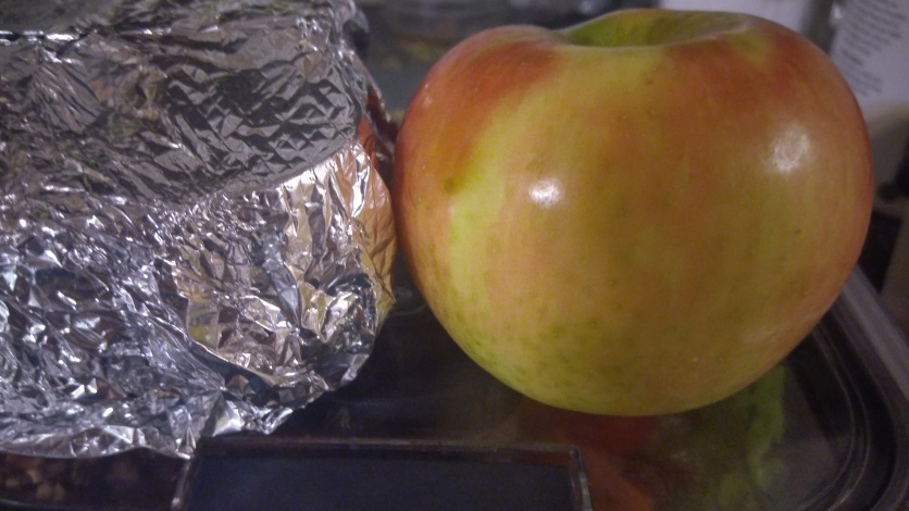 The apple that ended up being left at home