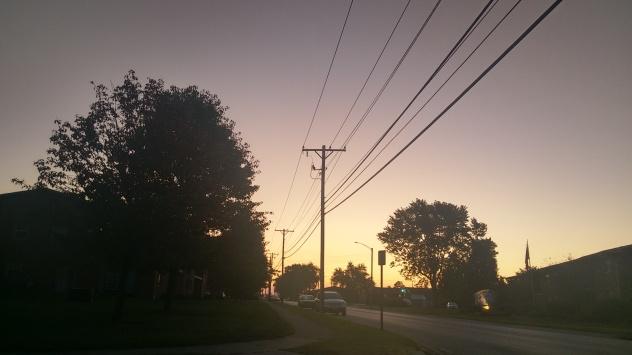 Sky heading out of my neighborhood