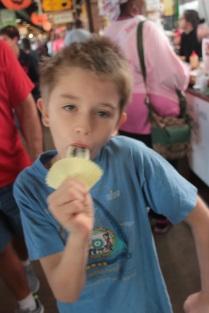 Enjoying his popsicle