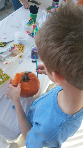 Pumpkin decorating 1