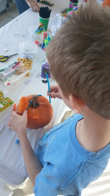Pumpkin decorating 1