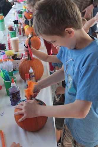 Pumpkin decorating 2