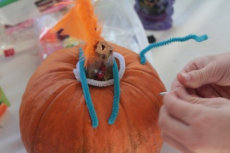 Pumpkin decorating 3