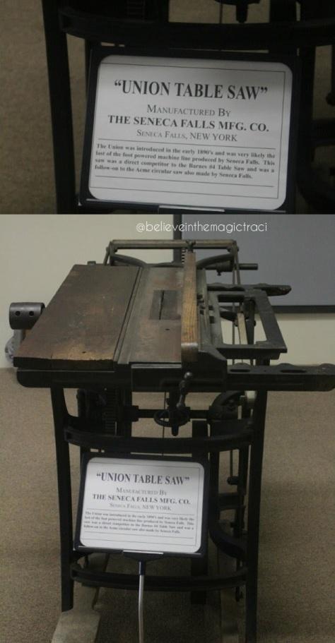 Seneca Falls museum table saw